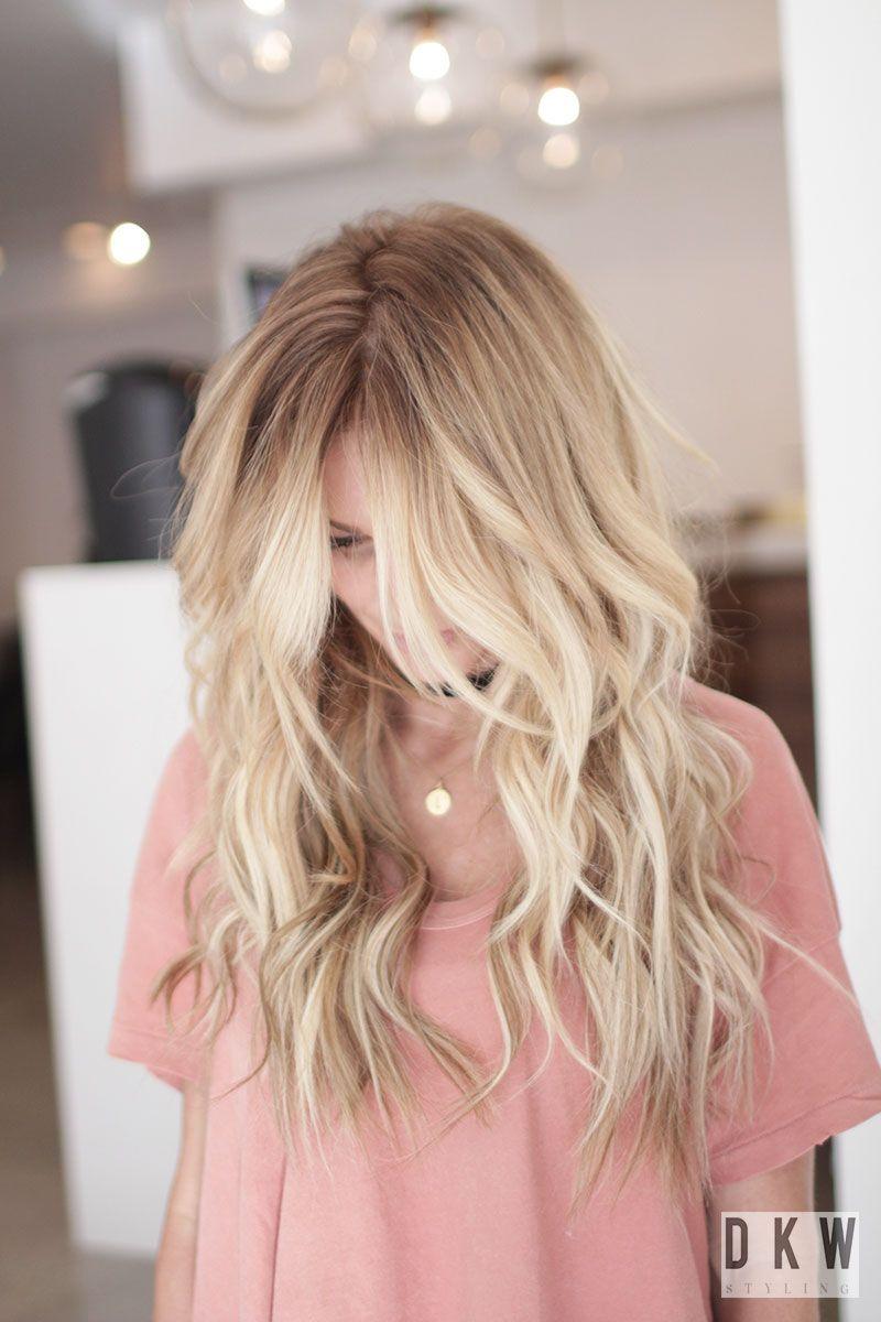 Blonde highlights in long hair in skin deep pinterest