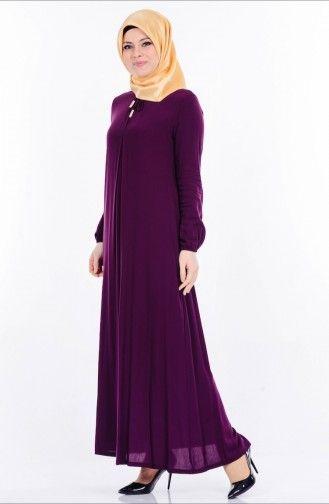 Sefamerve Bagcik Detayli Viskon Elbise 1134 10 Mor Elbise Elbise Modelleri The Dress