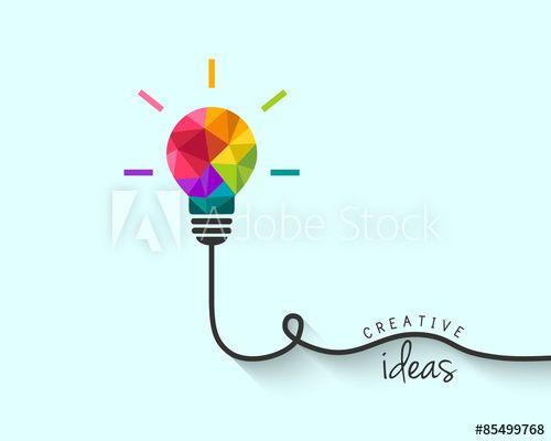Low Poly Lightbulb As Creative Idea Concept Light Bulb Polygon Art Free Vector Art