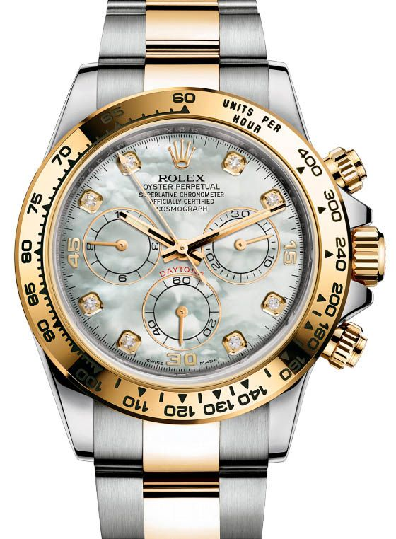 87f75ccdb0c Rolex 116523 mother of pearl dial diamond Daytona Cosmograph .  rolex