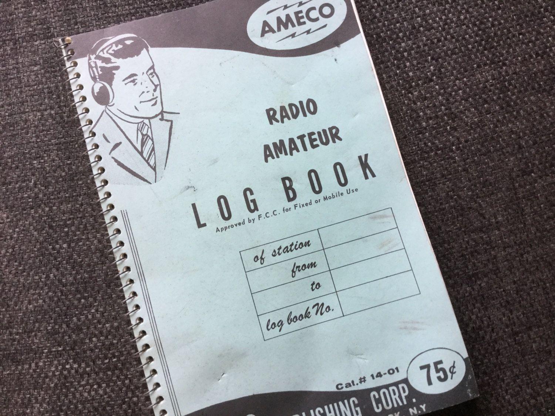 40 s post war radio log book blank spiral notebook unused ameco
