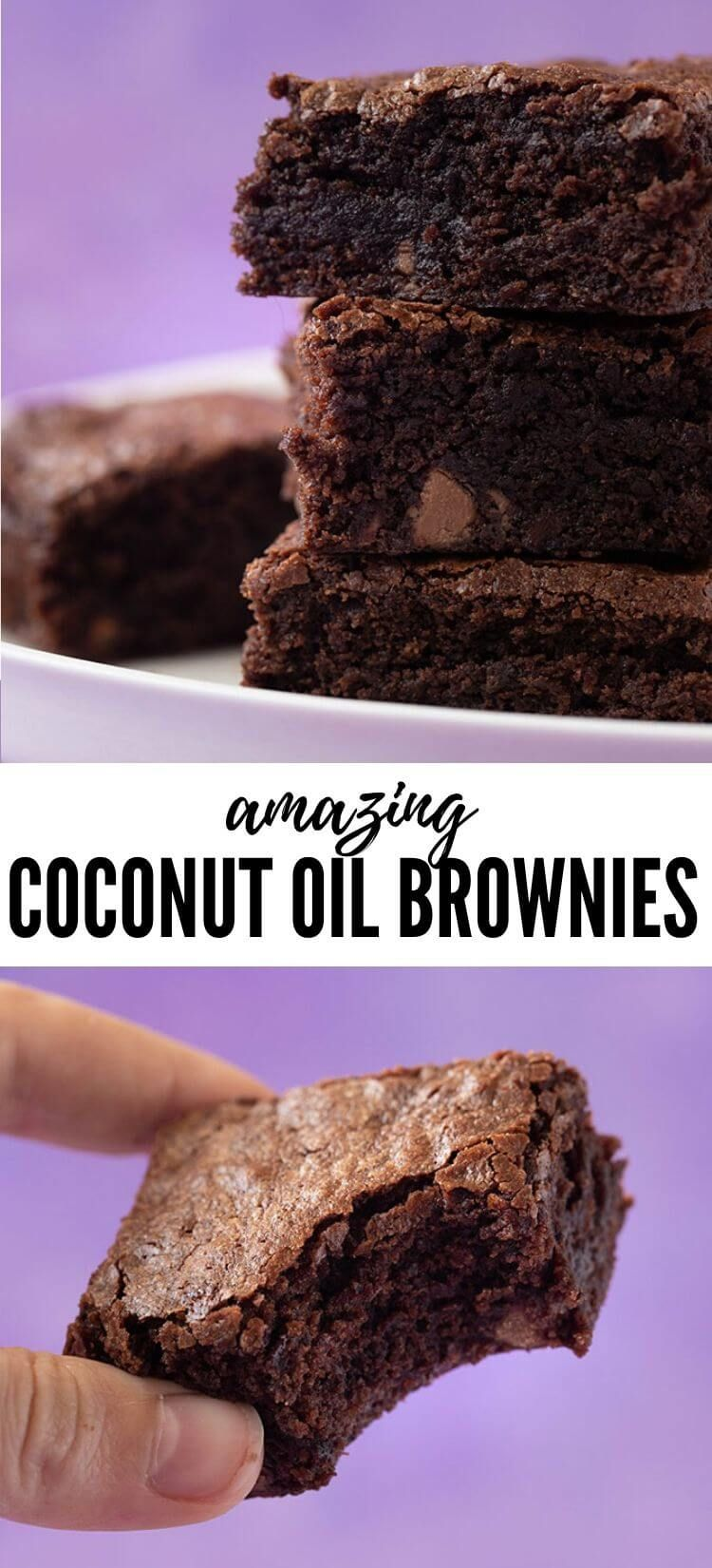 One Bowl Coconut Oil Brownies Sweetest Menu Recipe In 2020 Oil Brownies Coconut Oil Brownies Brownie Recipe With Oil