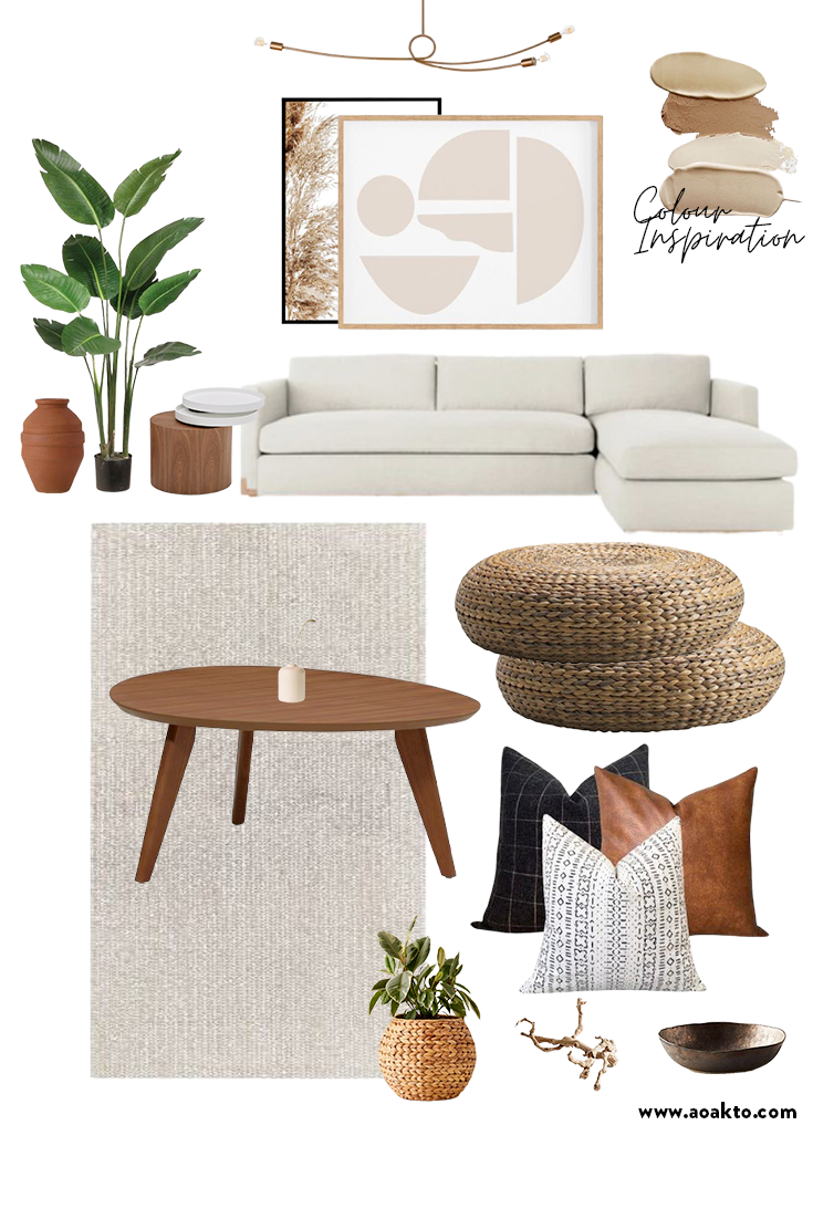 Organic modern Living Room Mood Board