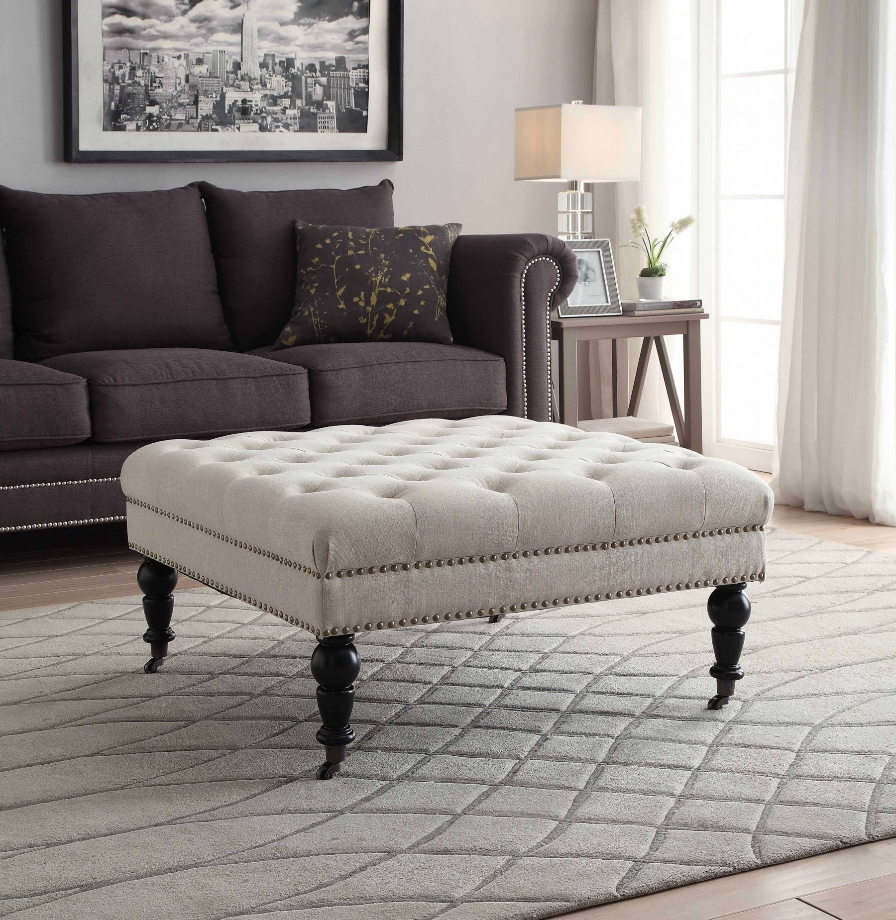 42++ Tufted ottoman coffee table square inspirations