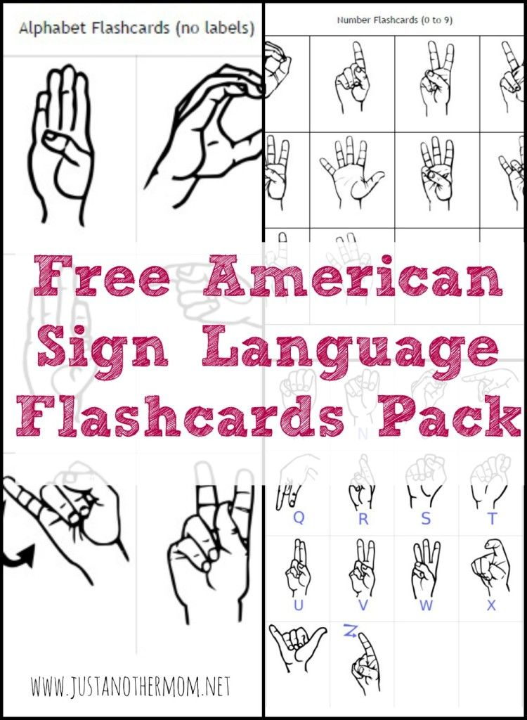 This Week'S Freebie On Just Another Mom Is A Free Asl Flashcards