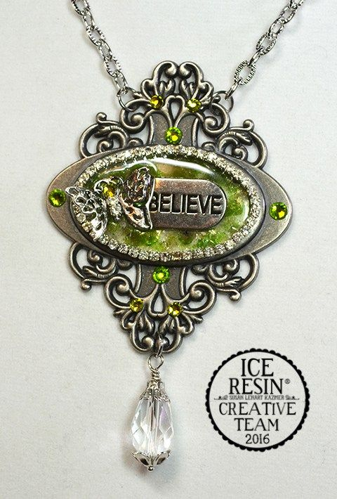 How to recycle a book finding into a resin pendant.