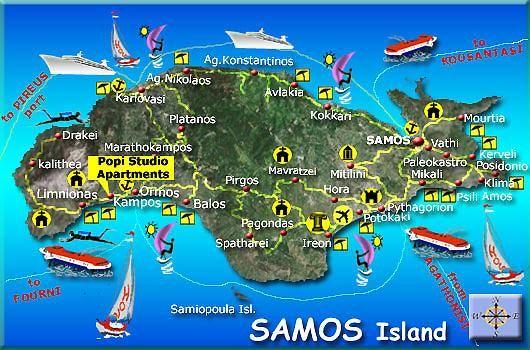 map of samos Google Search Samos Pinterest Samos and Greek