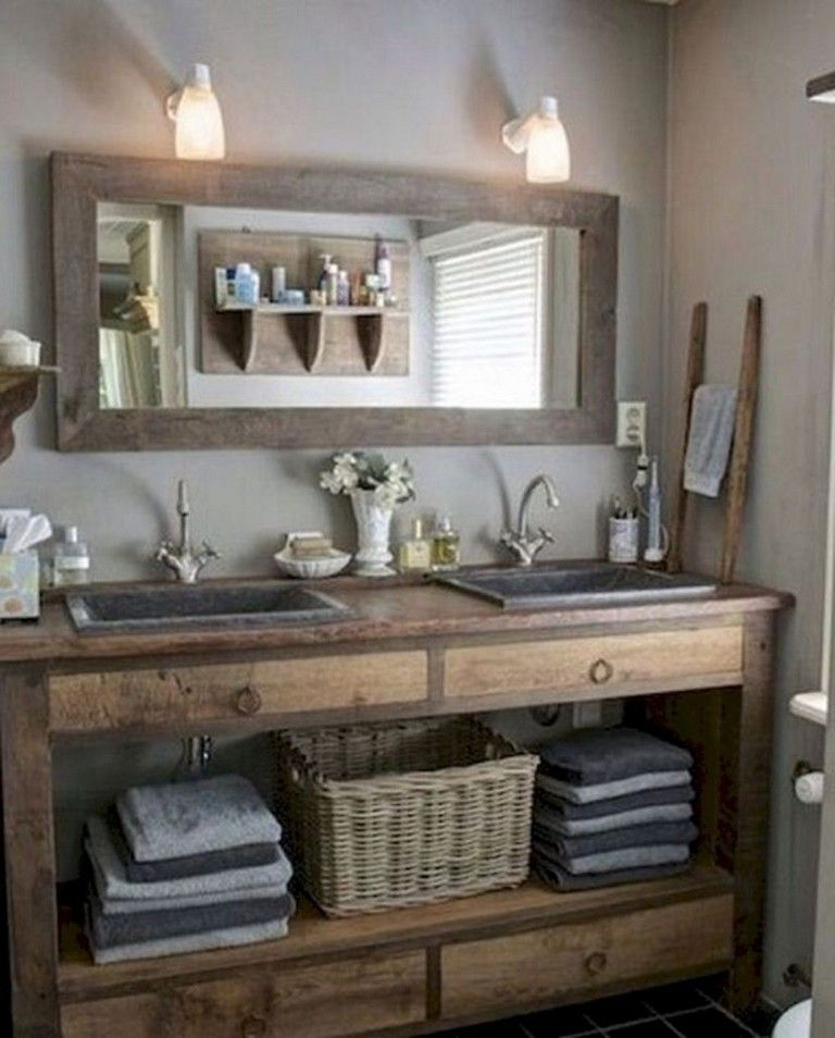 48 Smart Modern Farmhouse Bathroom Remodel Ideas Page 19 Of 48 Bathroom Vanity Remodel Modern Farmhouse Bathroom Farmhouse Bathroom Vanity