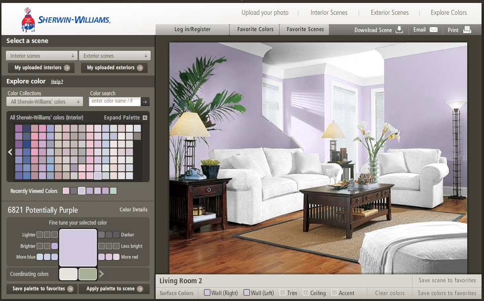 sherwin williams paint visualizer upload an image and paint the