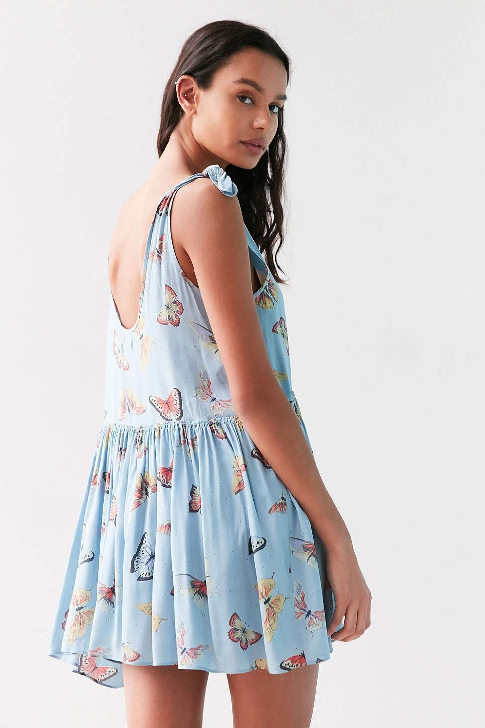 84dab5dcc68f Kimchi Blue Shirley Tie-Shoulder Babydoll Dress - Urban Outfitters ...