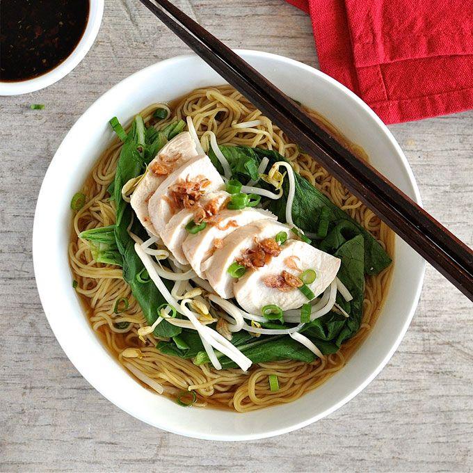 Foolproof poached chicken noodle soup recipe noodle soup super food forumfinder Images