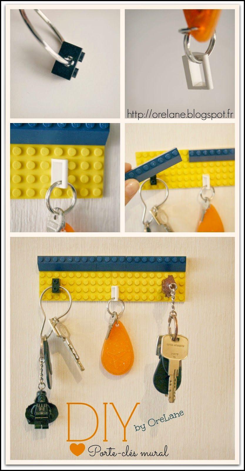 c64a5e4e784c DIY   Un porte-clé mural original avec des Lego   DIY by Orelane ...