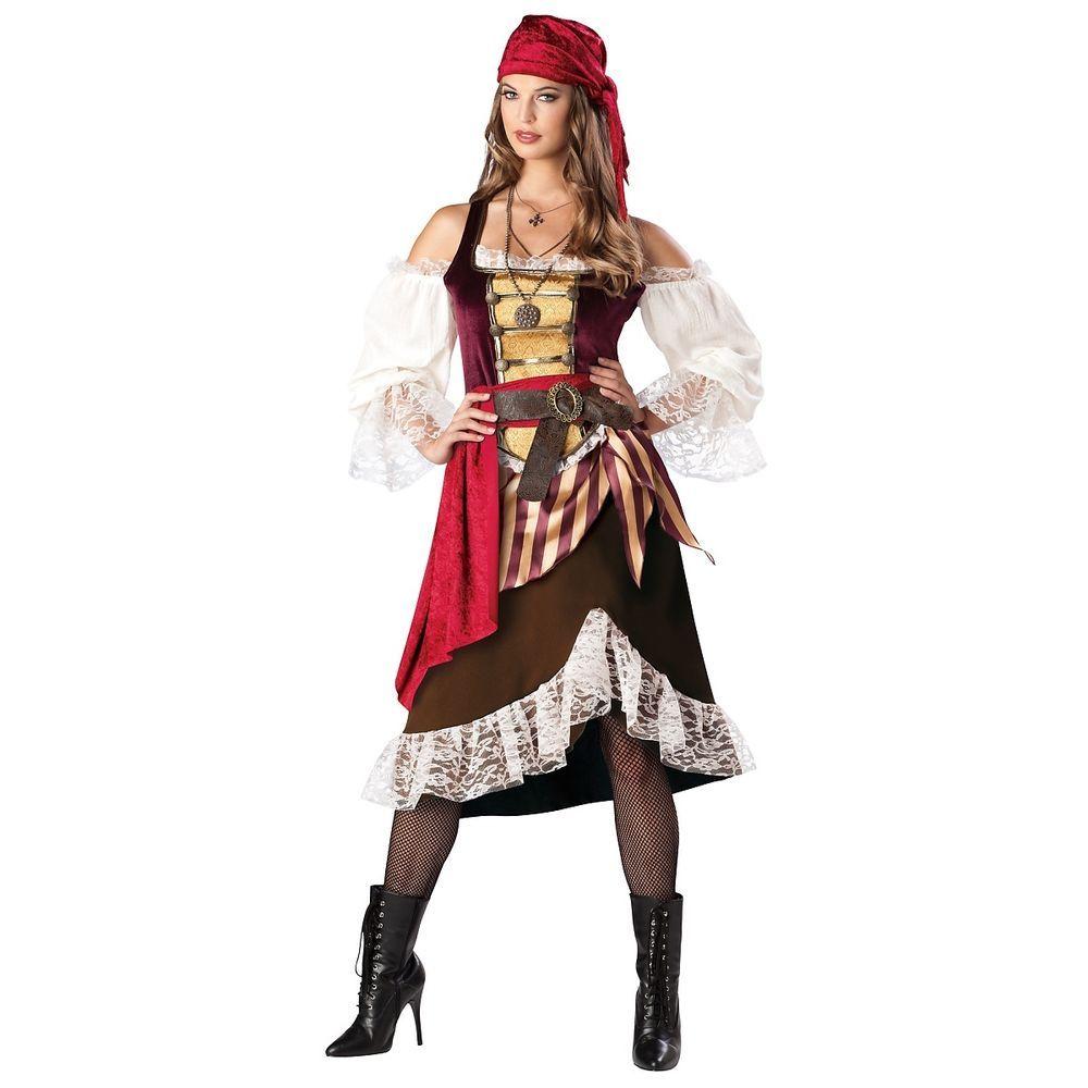 PIRATE WENCH ADULT WOMENS FANCY DRESS HALLOWEEN BUCCANEER COSTUME