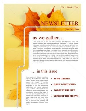 maple leaf church newsletter church newsletter samples pinterest