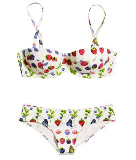 78f96950b6 Versace x H&M Cruise Collection! Love this bikini w/ fruit print ...