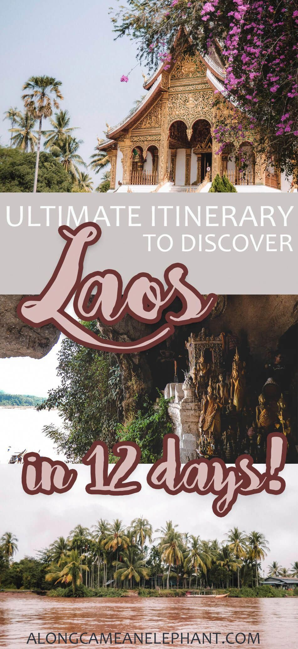 A 12day travel itinerary for Laos, covering all the best