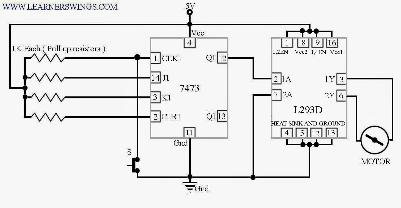 A Funny Electronic Trick Push Button Switch That Turn On Motor Together With Wiring Diagram In First And Off The Next