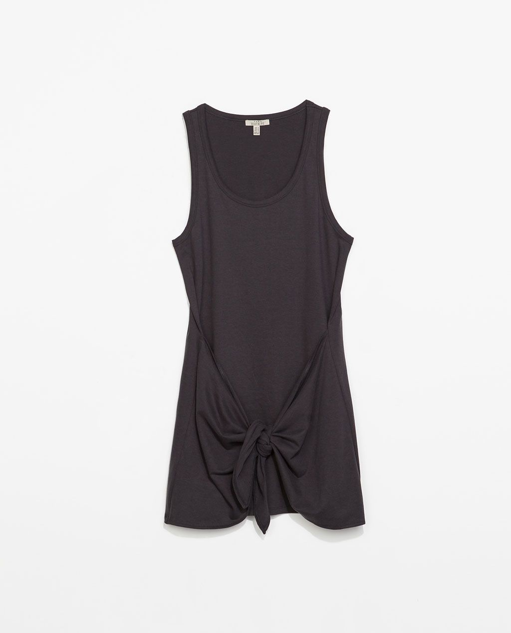 Zara trf dress with knot detail objects of desire