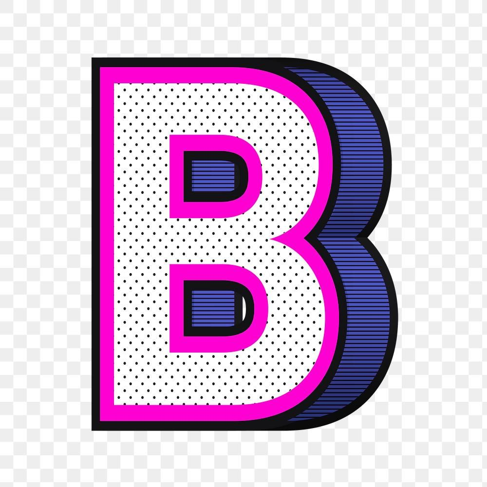 Letter B Png 3d Halftone Effect Typography Free Image By Rawpixel Com Wan Letter B Typography Png