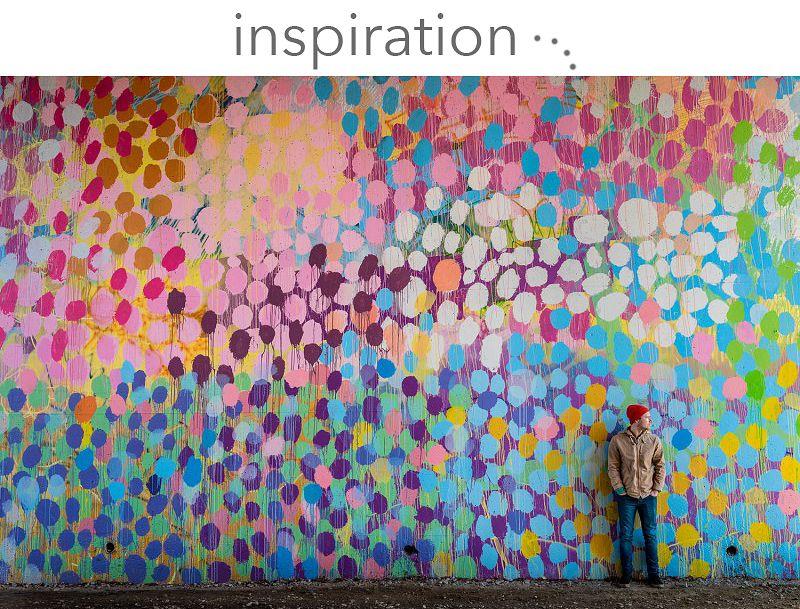 Colorful Spray Paint Accent Wall Murals Mural Wall Art Garden