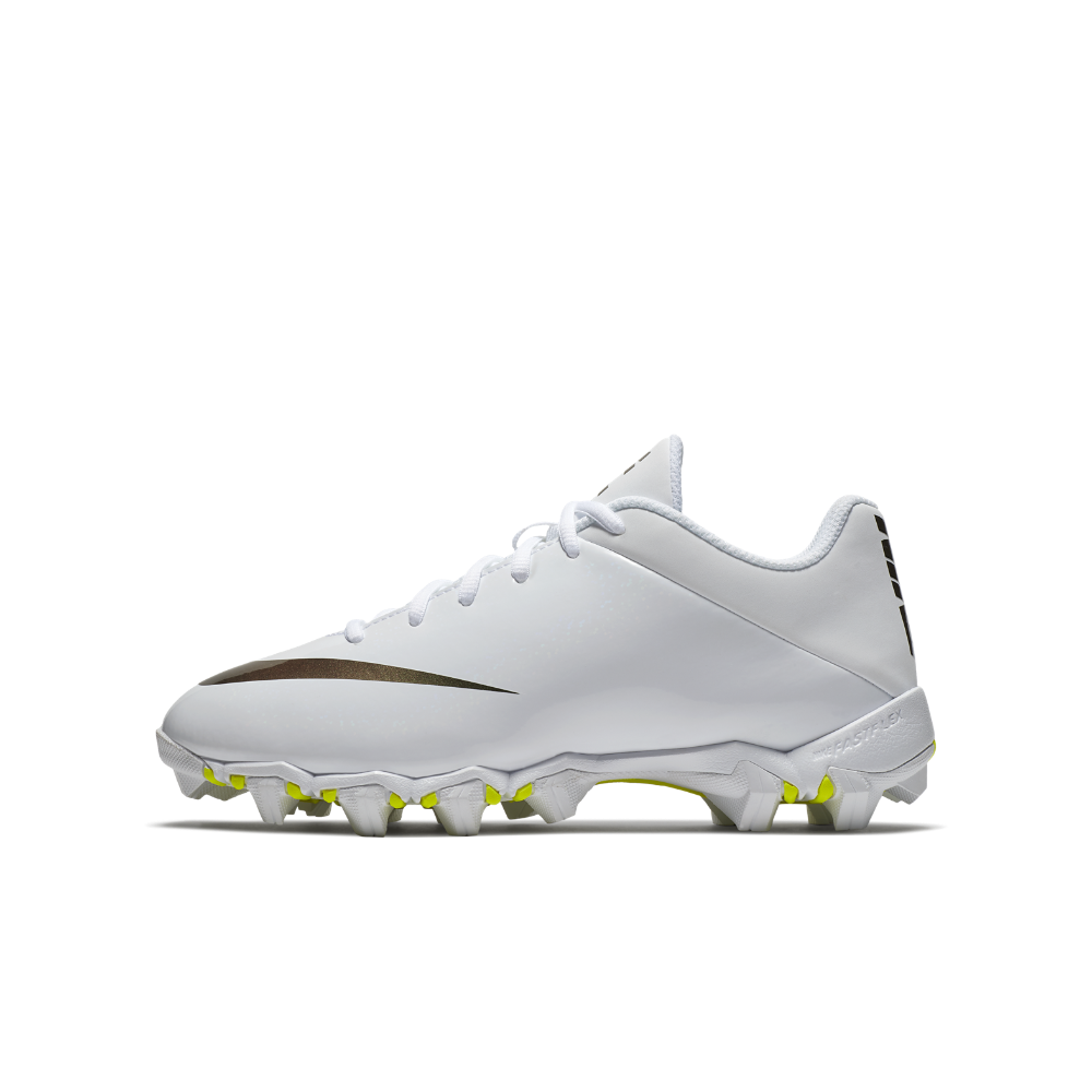 18f3a75bfe8 Nike Vapor Shark 2 Little Big Kids  Football Cleat Size 3.5Y (White ...