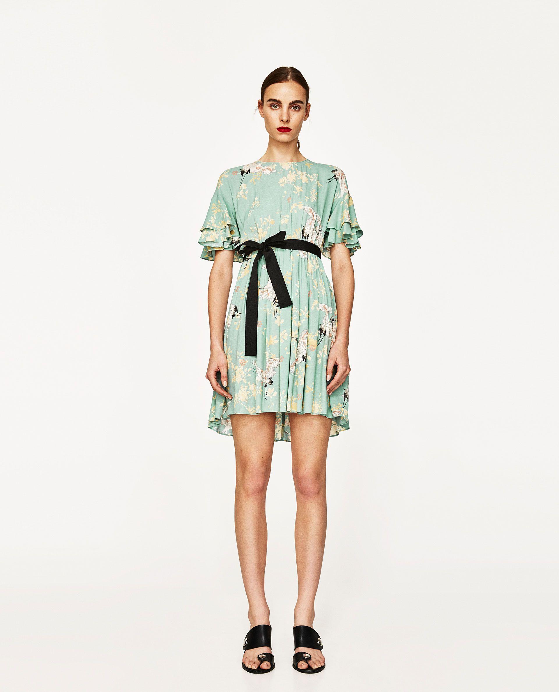 VESTIDO FLUIDO ESTAMPADO GARZAS | Flowing dresses, Zara women and Robe