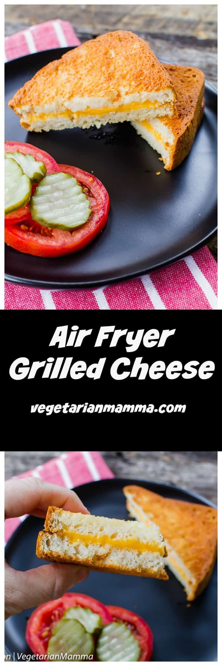 Air Fryer Grilled Cheese, gives you the perfect toasted