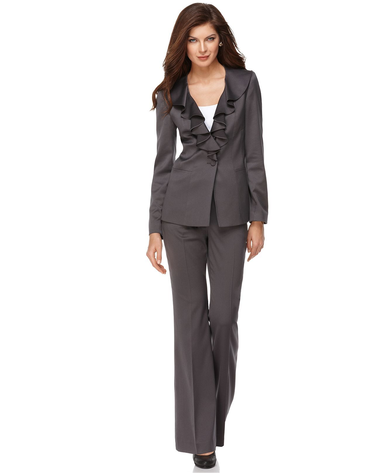 Pin By Esther Chae Von Zielbauer On Arko Outfit Suits For Women Single Button Jacket Business Attire Women [ 1616 x 1320 Pixel ]