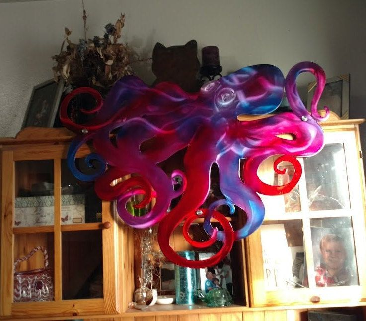 Nautical Wall Decor Large Octopus Metal Wall Art In 2020