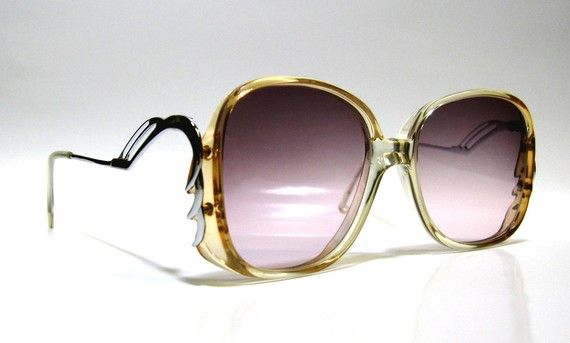 80's Vintage Sunglasses with Funky Frame