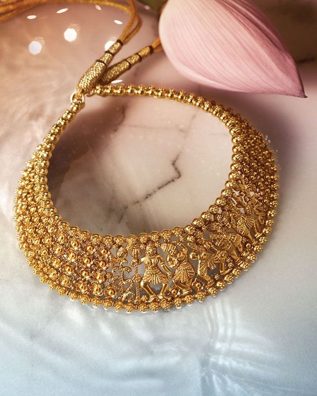 Love The Details In This Necklace By Tanishq Gold Jewellery Jewelry Stone