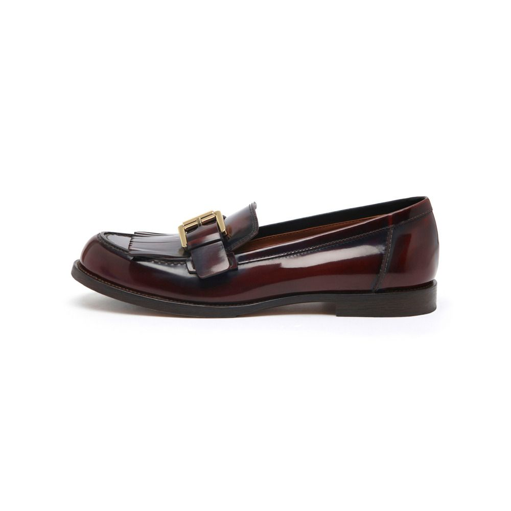 Mulberry Darby Loafer in Purple (oxblood)