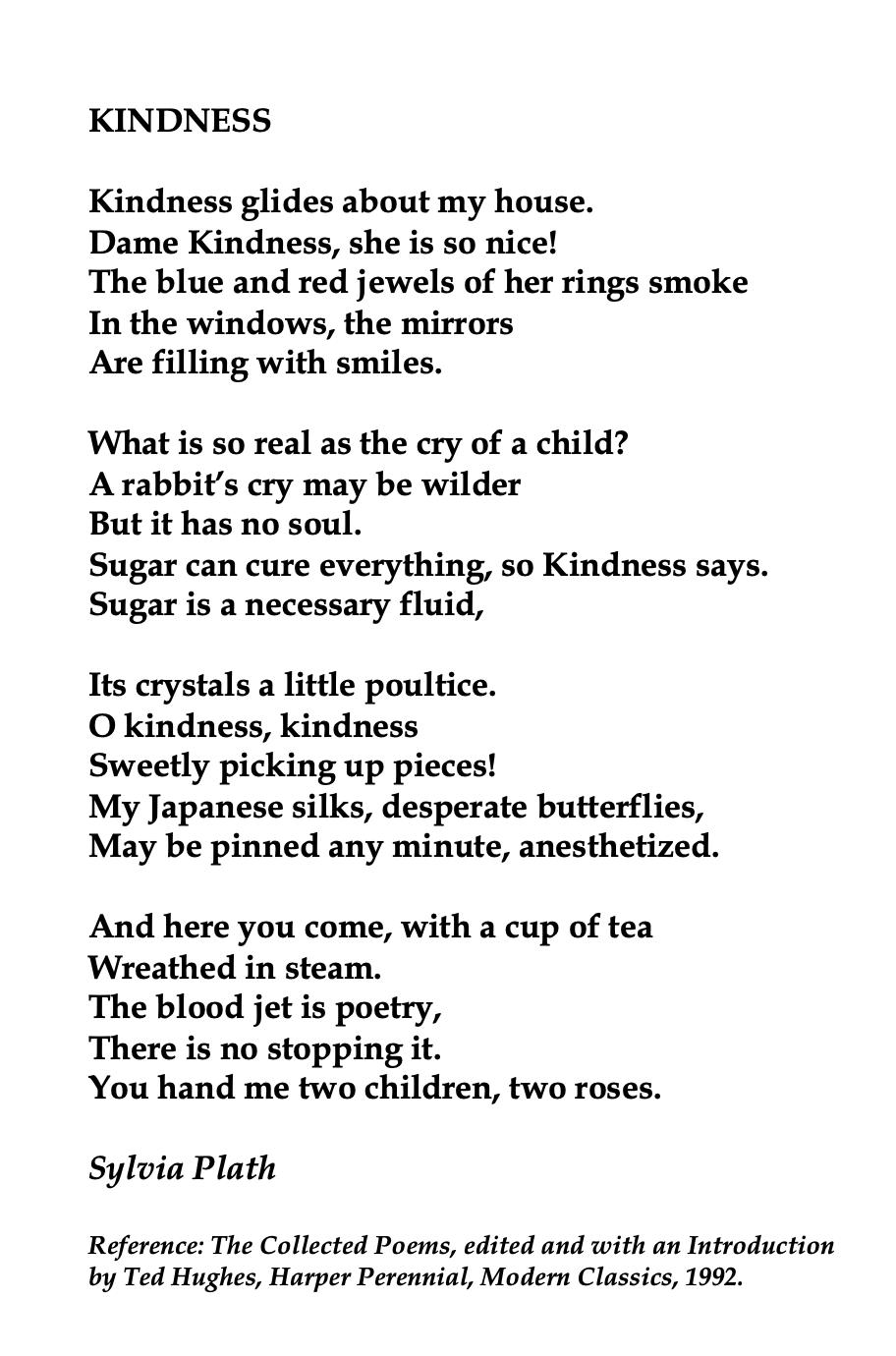 Sylvia Plath Kindnes Poem Poetry Ideas Paraphrase Of The Mirror By