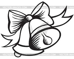 christmas clip art black and white christmas bells vector clipart - Free Christmas Clip Art Black And White