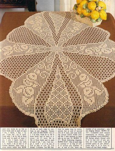 مجلة مفارش الكروشيه مفارش كروشيه بالباترون Magic Crochet Crochet Patterns Filet Crochet Tablecloth Crochet