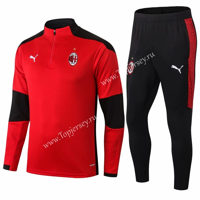 2020-2021 AC Milan Red Thailand Soccer Tracksuit -411 | Tracksuit ...