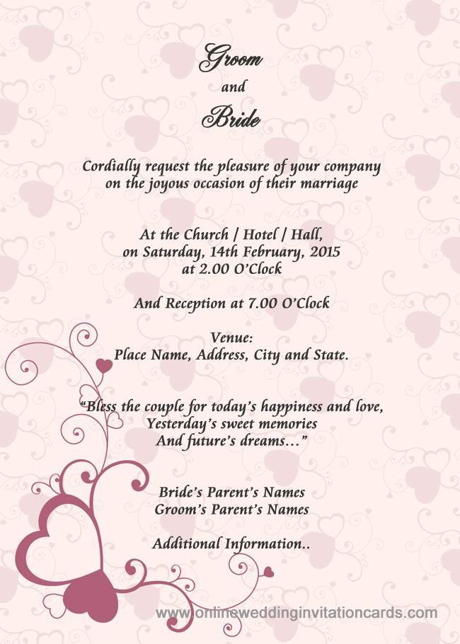 Best Invitation Cards  Unique Wedding Invitation Card Design - best of invitation card sample for inauguration