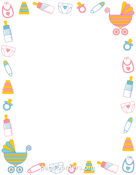 Directly From Site Baby Shower Border Borders Frames Baby