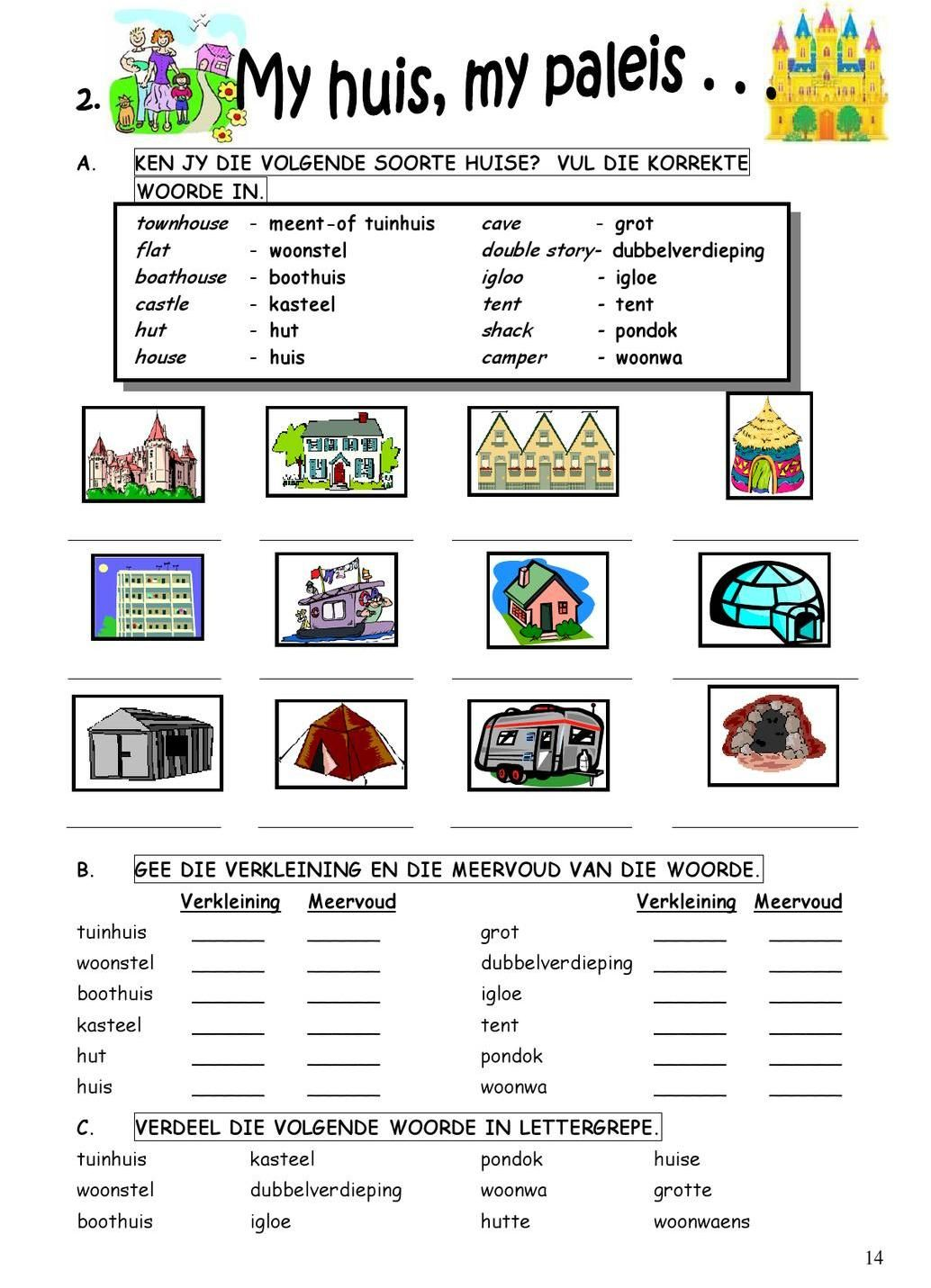 Worksheet With Dutch Icons