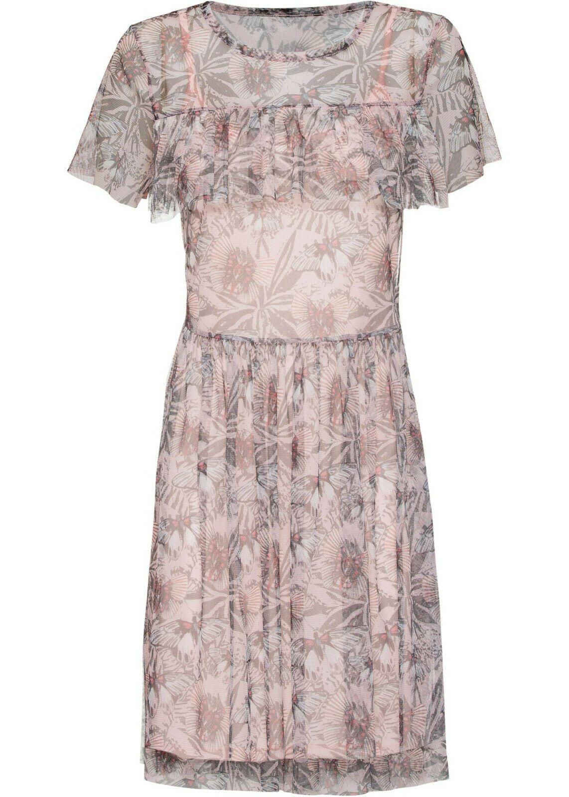 Schönes tolles Kleid in zartrosa gemustert Gr. 14/14 Q14 14
