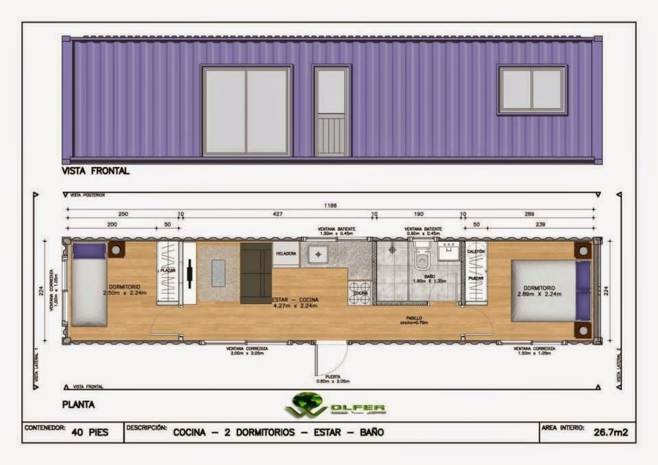 Casa vivienda en contenedor maritimo container ecologica - Contenedores maritimos para vivienda ...