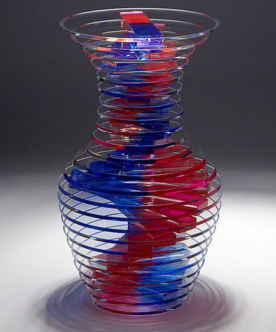 Sidney Hutter designs and creates original, sculptural glass vessels.