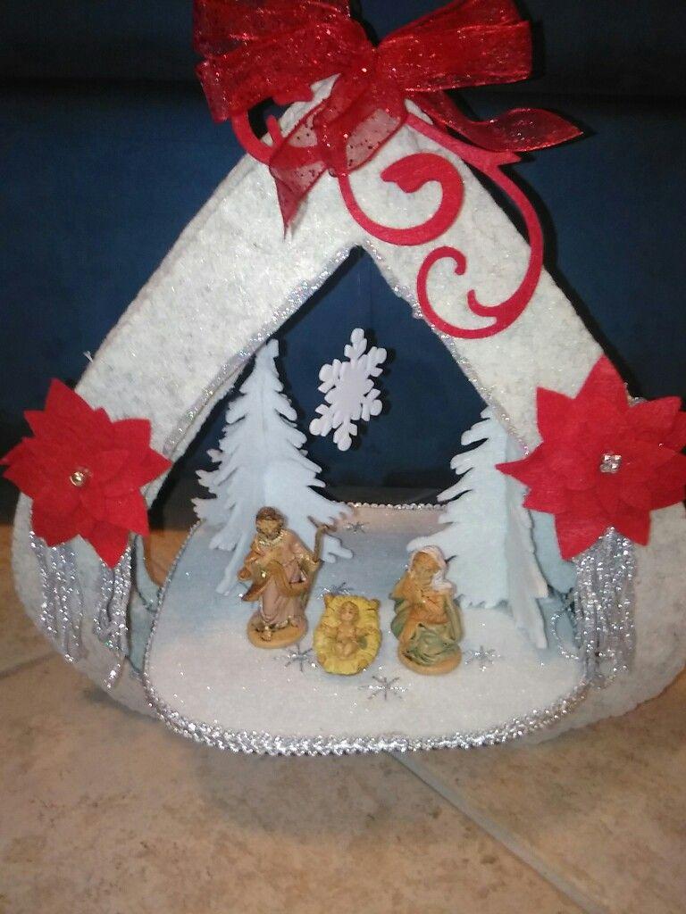 Presepio Con Capanna In Feltro Natale Natale Fai Da Te E