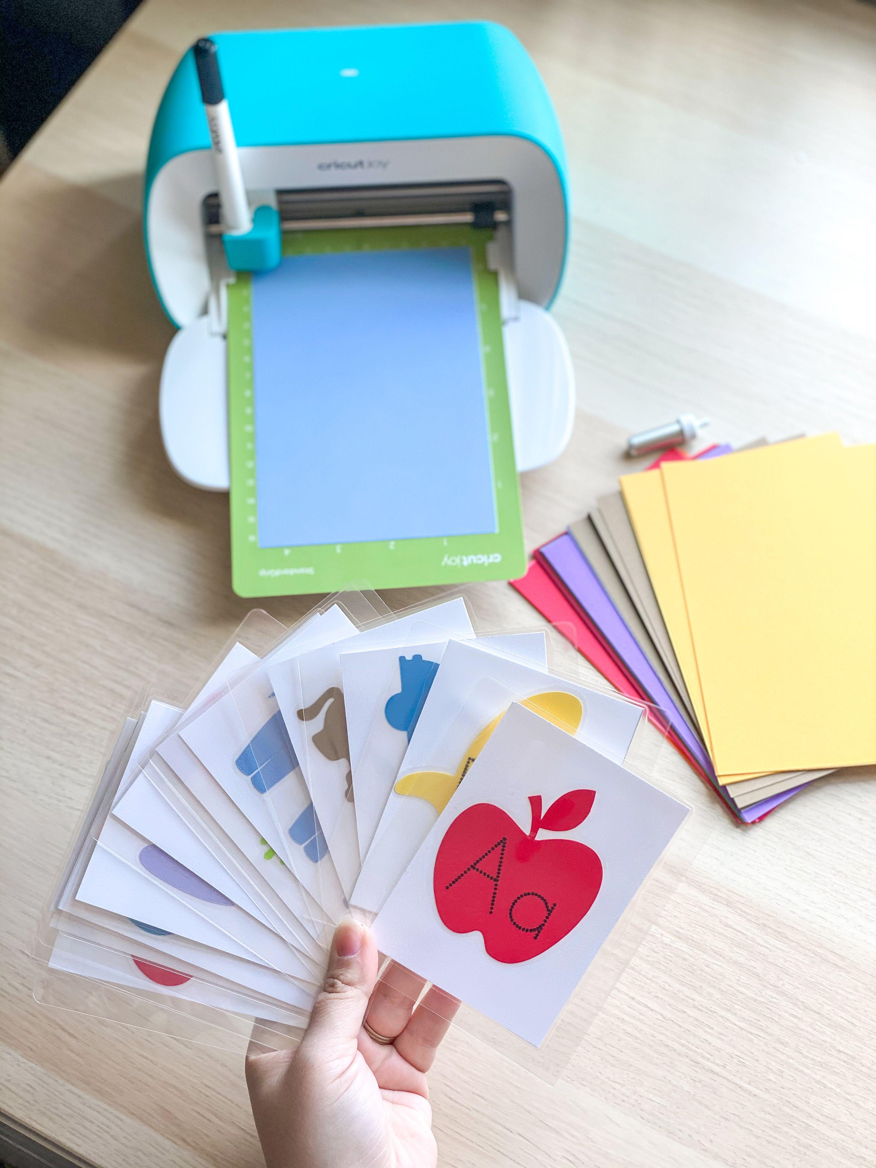 Diy cricut flashcards diy preschool flashcards for