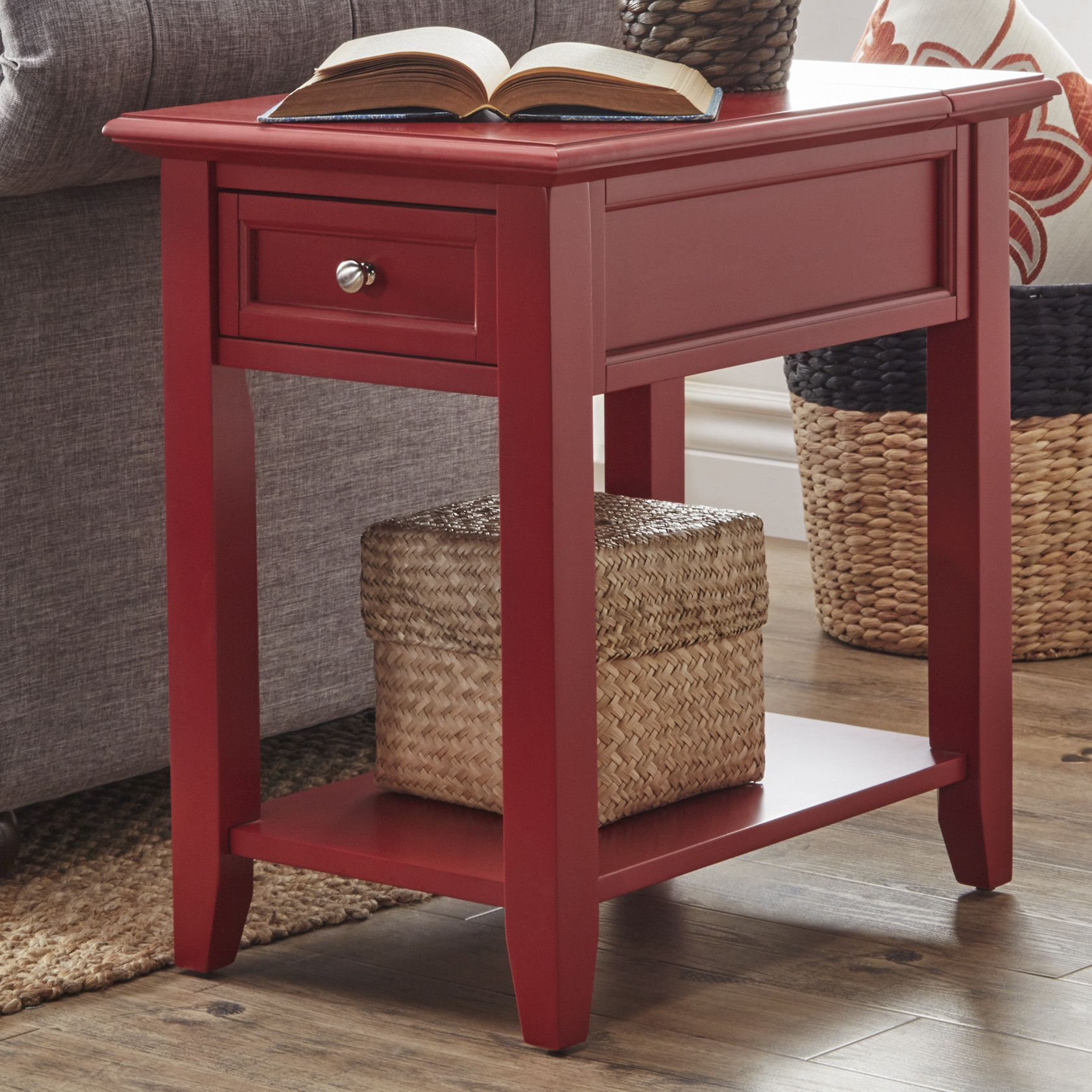 Ellicott end table with storage storage and products
