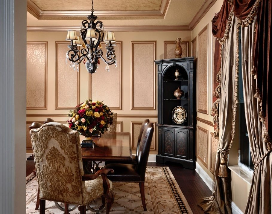 Brown Dining Room  For The Home  Pinterest  Tassels Home And Inspiration Victorian Dining Room Decor Decorating Inspiration