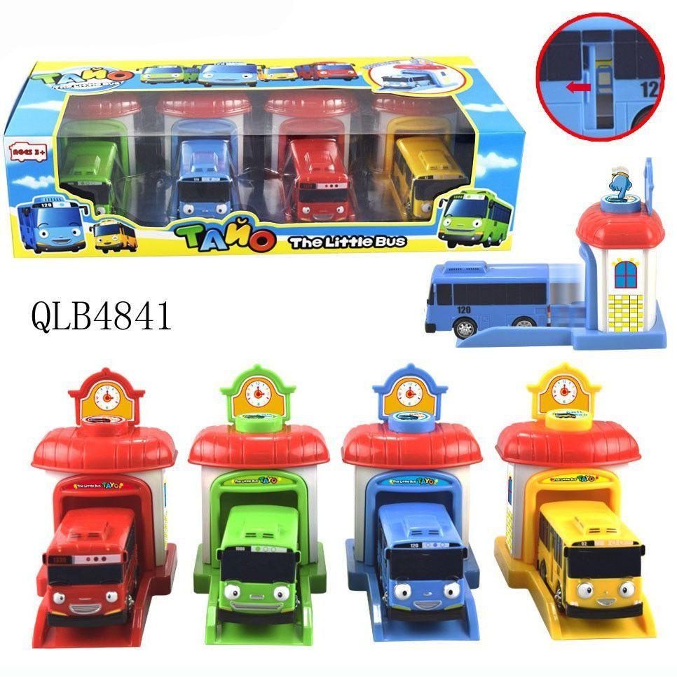 Little car toys  pcsset Scale model tayo the little bus children miniature bus