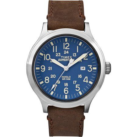 6fe2cf905b3 Timex Men s Expedition Scout 43 Blue Dial Watch