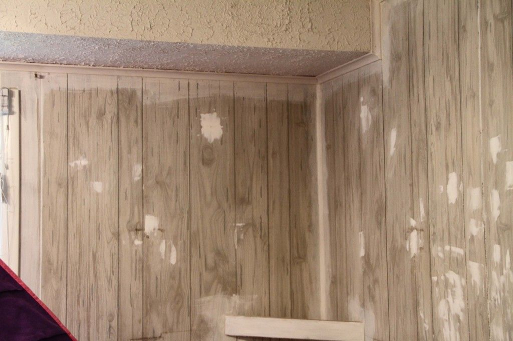 Painting Faux Wood Paneling