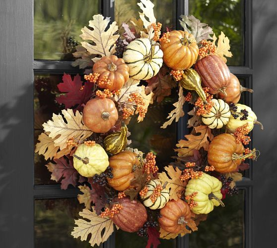 Pottery Barn Inspired Fall Wreath And It Was Free Diy Fall Wreath Fall Wreaths Autumn Decorating